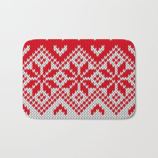 Winter knitted pattern 10 Bath Mat