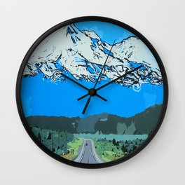 Abstract Painting Mt Everest Wall Clock
