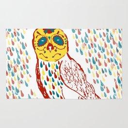 Sugar Skull Owl Rug