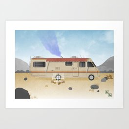 Breaking Bad RV Art Print