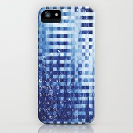 Nautical pixel abstract pattern iPhone Case