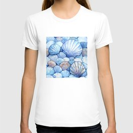 Sea Shells Aqua T-shirt