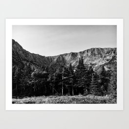 Black and White Katahdin Art Print