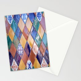 multicolor ceramic tiles Stationery Cards