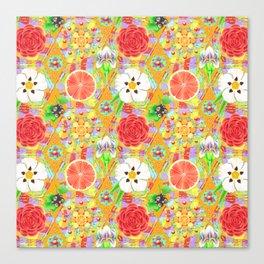 4160 Tuesdays Rainbow Botanicals Canvas Print