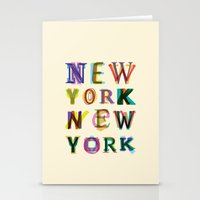 new york Stationery Cards featuring New York New York by Fimbis