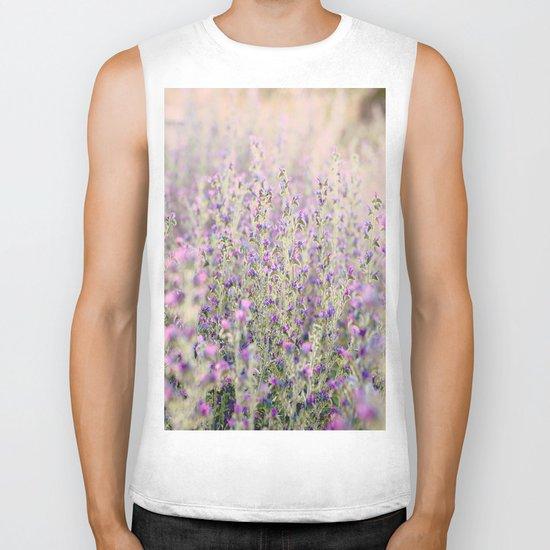 Purple flowers Biker Tank