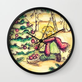Tristan's Tree Vintage Wall Clock