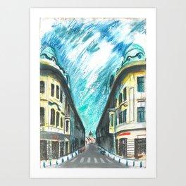 Mirror street Art Print