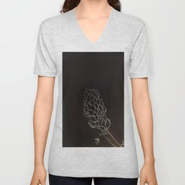 Black and White Alpinia purpurata – Red Ginger Flower, Bogota, Colombia Unisex V-Neck