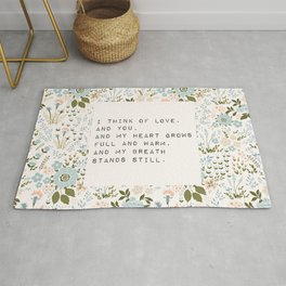 I think of love, and you - E. Dickinson Collection Rug