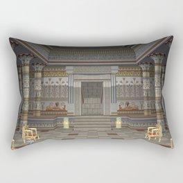 Ancient Egyptian Hall Rectangular Pillow