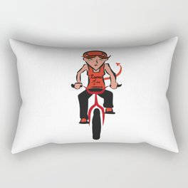 Devil woman cycling Rectangular Pillow