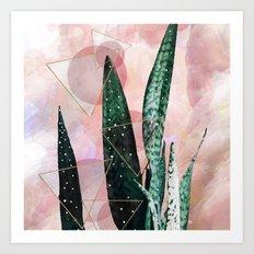 Plant circles & triangles Art Print