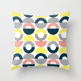 Retro style pattern 7 Throw Pillow