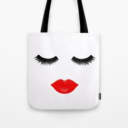 Lips and Lashes Tote Bag