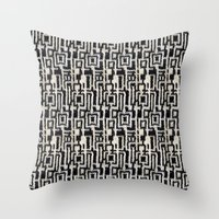 knit Throw Pillows featuring Maze Knit by JoAnna Seiter