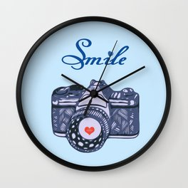 Let Your Smile Change the World.  Wall Clock