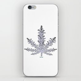 Cannabis Snow Flake iPhone Skin