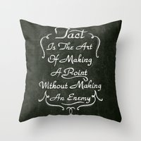 lettering Throw Pillows featuring Lettering 001 by Noem9 Studio