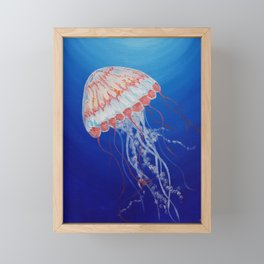 Jellyfish  Oil Painting by Faye Framed Mini Art Print