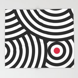 Cropped Roundels Throw Blanket