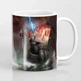 Dragon Viking Ship Coffee Mug