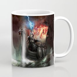 Dragon Viking Ship Coffee Mug