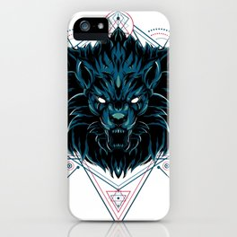 The Wild Lion sacred geometry iPhone Case