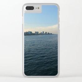 Virginia Beach with dark ocean Clear iPhone Case