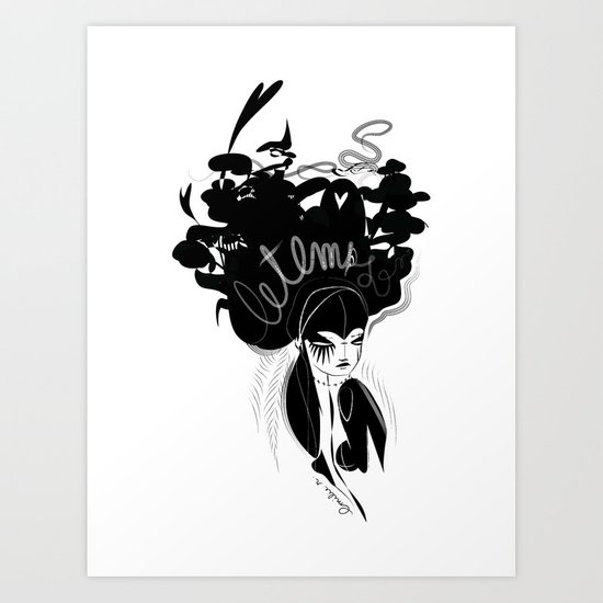 This head I hold - Emilie Record Art Print