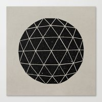 geometric Canvas Prints featuring Geodesic by Terry Fan