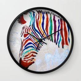 Zebra Grafitti Wall Clock