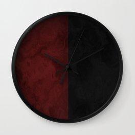 Red and Black Dark Gothic Home Decor   Dark Style Wall Clock