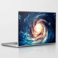 erotic Laptop & iPad Skins featuring Spiral Galaxy by Zavu