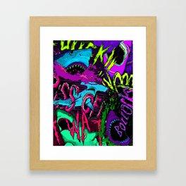 If sharks could talk Framed Art Print