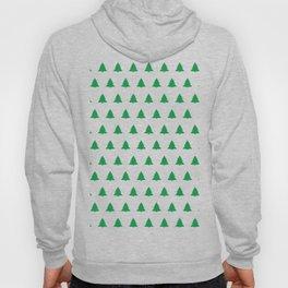 seamless green christmas tree pattern Hoody