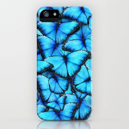 Peace of the Blue Butterfly iPhone Case