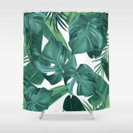 Tropical Summer Jungle Leaves Dream #2 #tropical #decor #art #society6 Shower Curtain