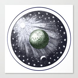 Cosmic stardust Canvas Print