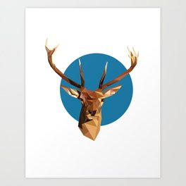 oh deer, triangles. Art Print