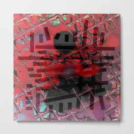 Line and Red Metal Print