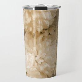 Monochrome Abstract Mums Travel Mug