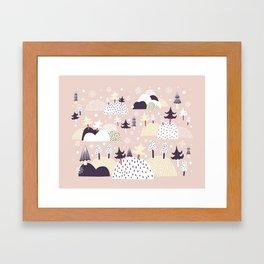 Lumihattara Framed Art Print