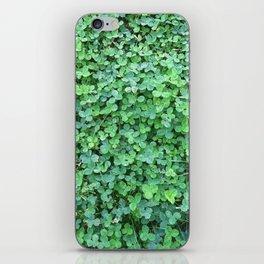 Green Clovers Nature Photo #GaneneKPhotogaphy #StPatricksDay iPhone Skin
