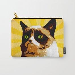 Cat Grumpy - Pop Art Carry-All Pouch