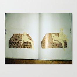 old sketchbook photo Canvas Print