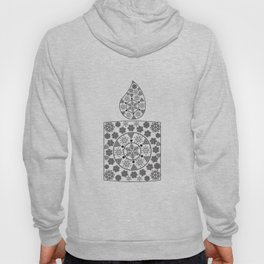 Candle of snowflakes Hoody
