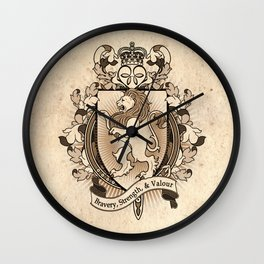 Lion Coat Of Arms Heraldry Wall Clock