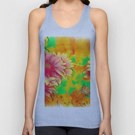 Fall Flowers In Soft Abstract Unisex Tank Top